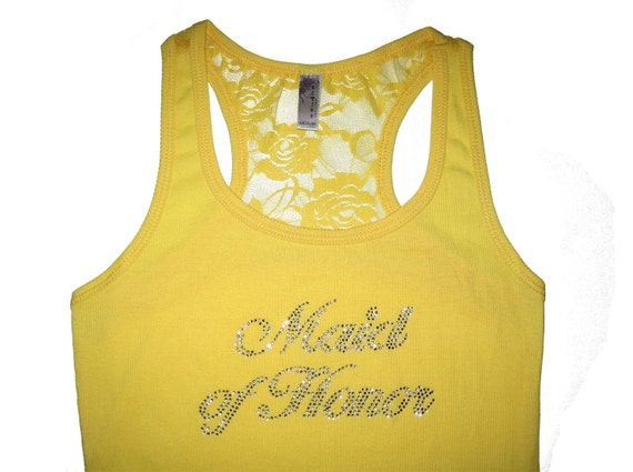 Bride Tank Top Shirt. Bridesmaid Tank Tops. Maid of Honor Tank Top Shirt. Tank Tops for Wedding/ Clothing/ Bachelorette/ Matron of Honor