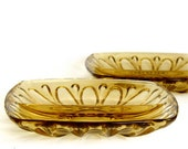 Gold Glass Dishes - Set of 2