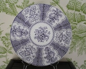 RESERVED for Lisa/ Antique English Water Lilly Imperial Stone China purple Plate John Ridgway