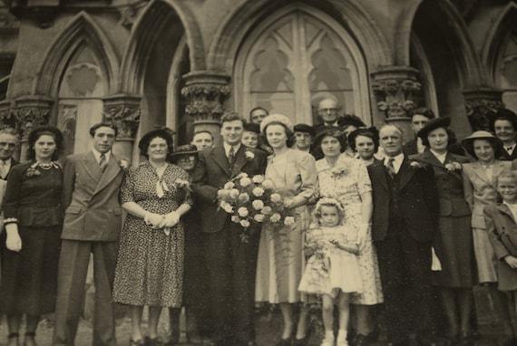Vintage 1940s/1950s Wedding Photograph - Abergavenny, Wales
