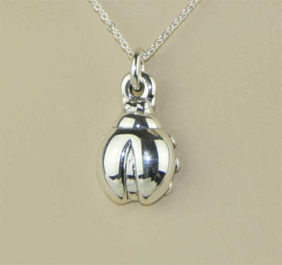 Set of 3 - Ladybug Symbol  Necklace & Pendant in sterling Silver