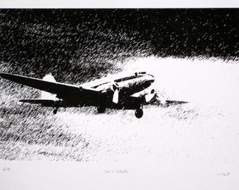DC-3 Dakota - limited edition screenprint