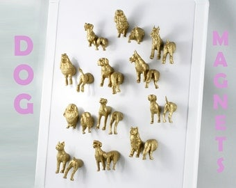 Huge Magnet set for DOG LOVERS - 24 pieces - mix and match the head to the body