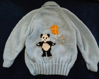 Panda Sweater & Hat Set