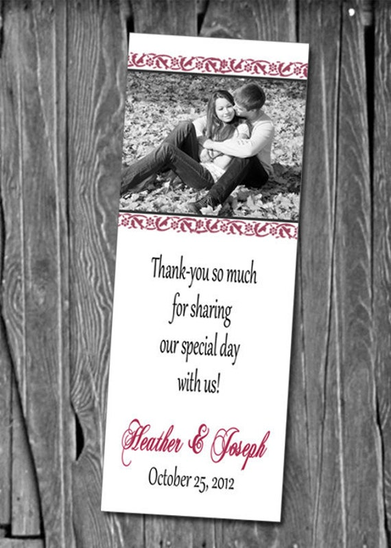 50, 100 or 150 Photo Bookmarks, Great Wedding Party Favors & Keepsake ...