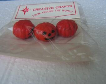 Miniature Pumpkins, Miniature Jack O Lantern, Vintage Halloween Miniature