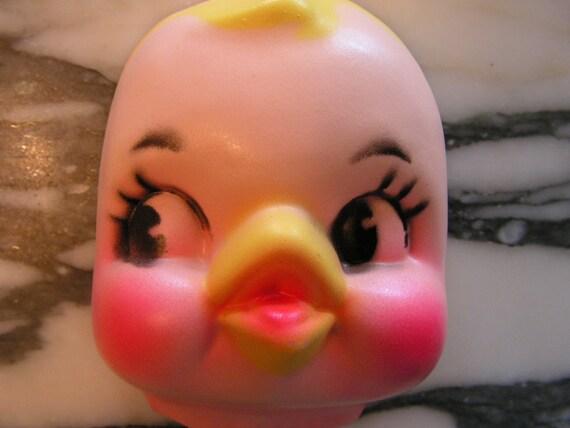 Vintage Easter Chick Doll Face