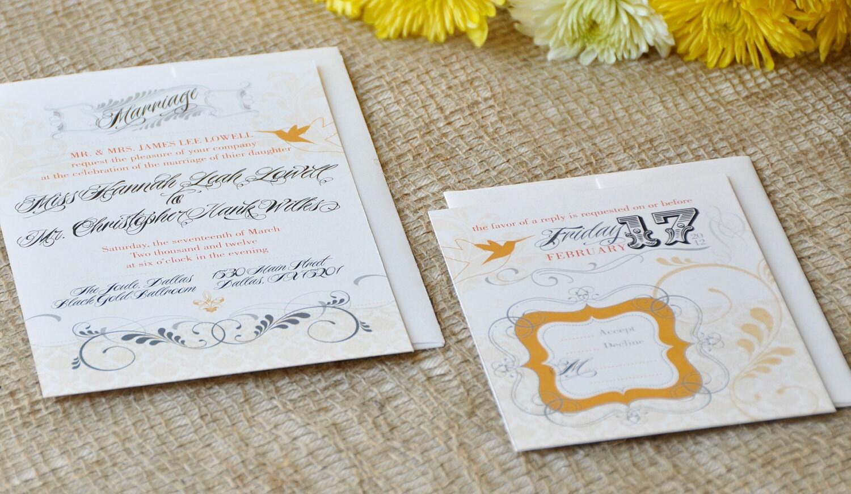 Hummingbird Wedding Invitations: Kitchen & Dining