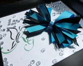 Black and Blue Multilayered, Large Girls Hair Bow