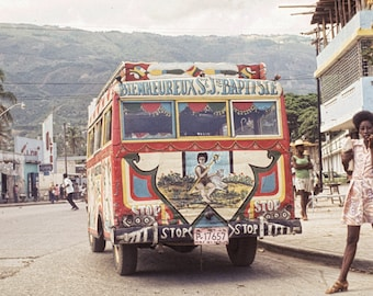 Vintage Photo: Haitian Street Scene in 1975 Wall Decor 12 x 8