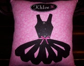 Personalized Ballerina Keepsake Pillow