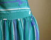 Butterfly Skirt.  Striped Spring Skirt. by MALIA.  Medium.