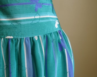 Butterfly Skirt.  Striped Spring Skirt. by MALIA.  Medium.