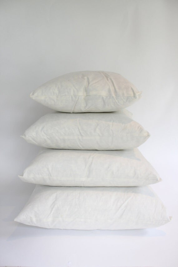 18x18 Square Down/Feather Pillow Insert, Extra Plump, Extra Filling