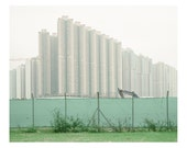 architecture . descending towers . screen . duplication - silence series - contemporary landscape photography . industrial . architectural