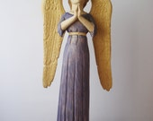 ANGEL for Easter celebration, carved H 19.6 In, weight 4.4 lbs