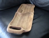 Hand carved Oak Platter to serve or a cutting board, with hand carved sections and handles