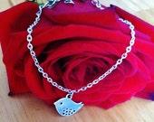 Silver Birds Charm bracelet,silver charm bracelet ,baby shower gift,new mom gift,birthday gift,anniversary gift,gift for mom and sister