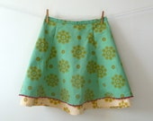 recycled double-layer print skirt