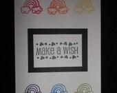 St. Patrick's Day card - Make A Wish - Rainbows