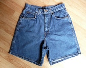 Vintage 80's Chic Retro High Waist Blue Jean Shorts 10