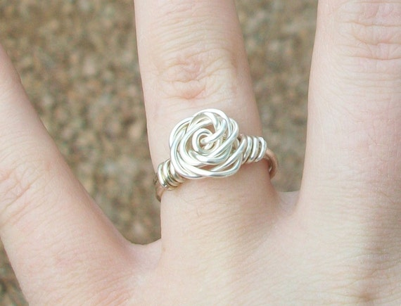 Wire Rose Rings - Custom Size and Color