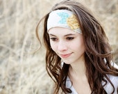 LONDON - one size fits all floral embellished boho head-wrap