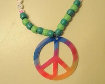 Green Peace Kandi necklace