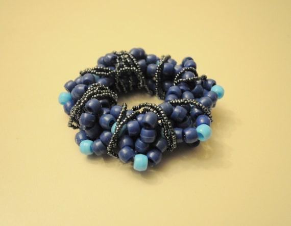 Blue 3D Kandi Cuff