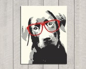 Lab Art Print - Modern Dog Art