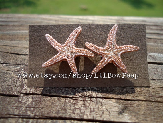 Beach Themed Glitter Studs (1 pair)