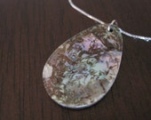 """Abalone Necklace on 16"""" Sterling Silver Chain"""