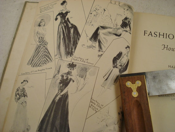 Vintage Book Fashion Drawing How to Do It Copyright 1939 / Fashion Design Book