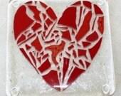 Heartbreaker Fused Glass Coaster
