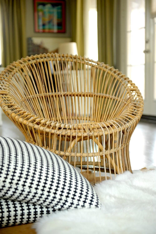 Mid Century Modern Rattan Chair