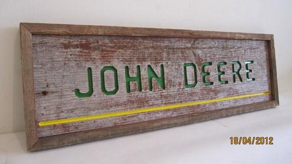 Barnwood John Deere Sign