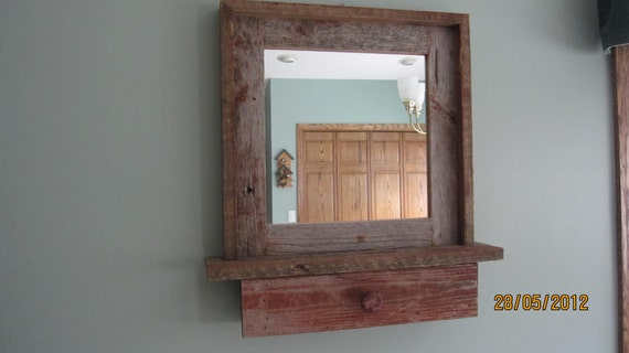 RESERVED for SARAH ---   Mirror (with pull out drawer)