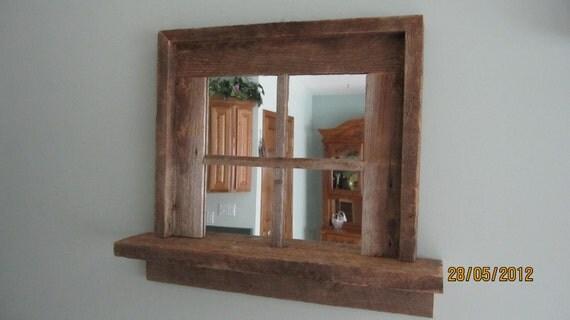 Mirror (barnwood mirror shelf)