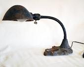 Vintage Gooseneck Desk Lamp. Farm fresh and works great.