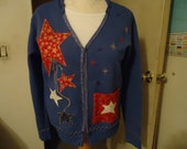 Hand decorated Americana sweatshirts and cardigans
