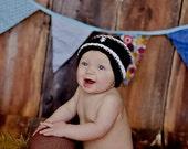 Newborn Football Hat, Baby Football Hat, Newborn Photo Prop, Baby Boy, Baby Boy knit Hat, Baby Boy Photo Prop, Football Hat, Baby Boy Hat