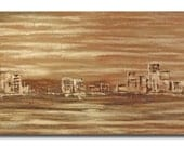 Urban Mist - Original Large Abstract Landscape Painting by Jean Plout  36 x 72