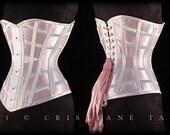 Pink Ribbon Lattice Corset - SAMPLE SALE