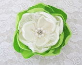 Green Flower Clip Lime Green Clip Flower Hair Accessory. Green Flower Hair Clip. Hair Flower Clip. rusteam