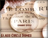 10 - Clear Round Glass Pendant Tiles Perfectly Smooth Edges 1 inch Circles in Jewelry Grade 25mm