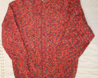 Acrylic wool blend button up sweater women small