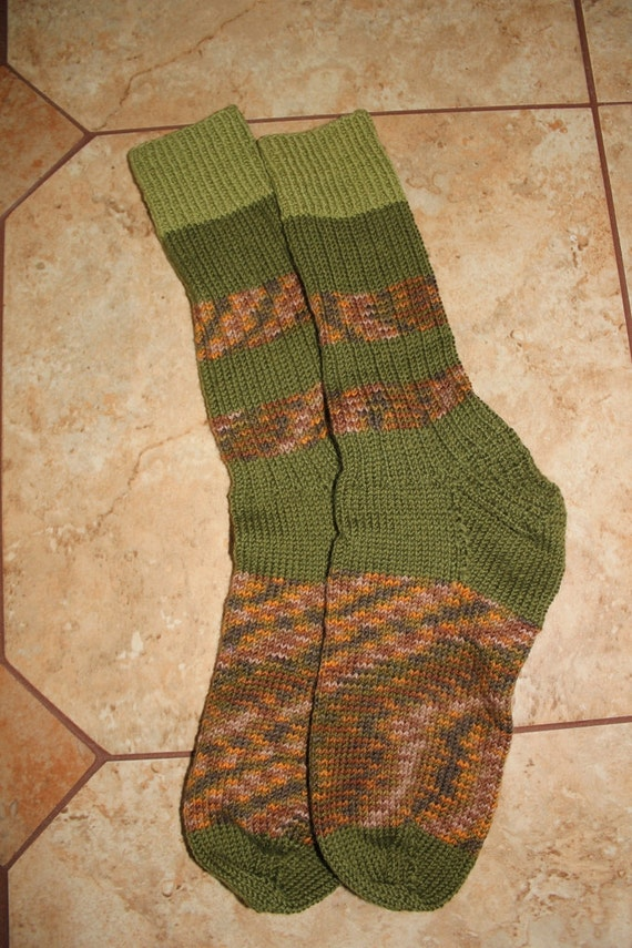Hand knit wool blend women's socks