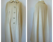 Vintage Wool Camel CAPE Coat size Medium/Large