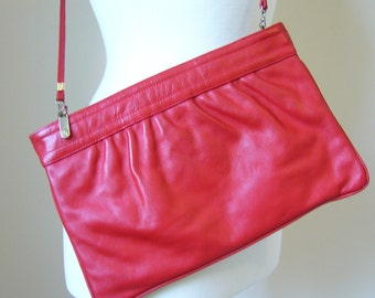 Vintage Bright RED Purse/Clutch