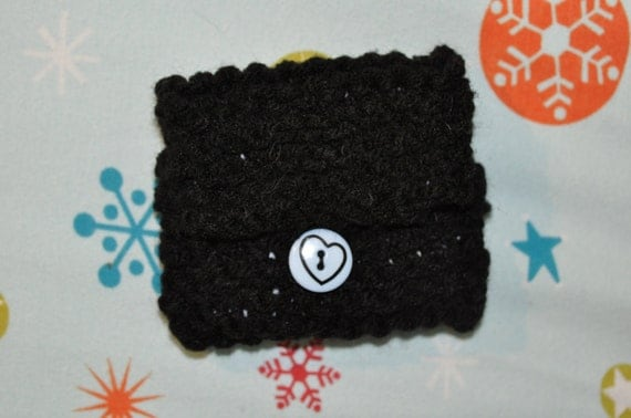Black and blue coin purse